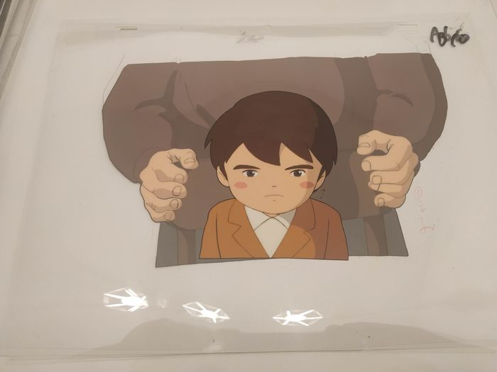 Marco:3000 leagues In search of mother - Anime cel original japan 2 layer B10/ A6 (end) and dougas - Eerste druk - (1976/2000)