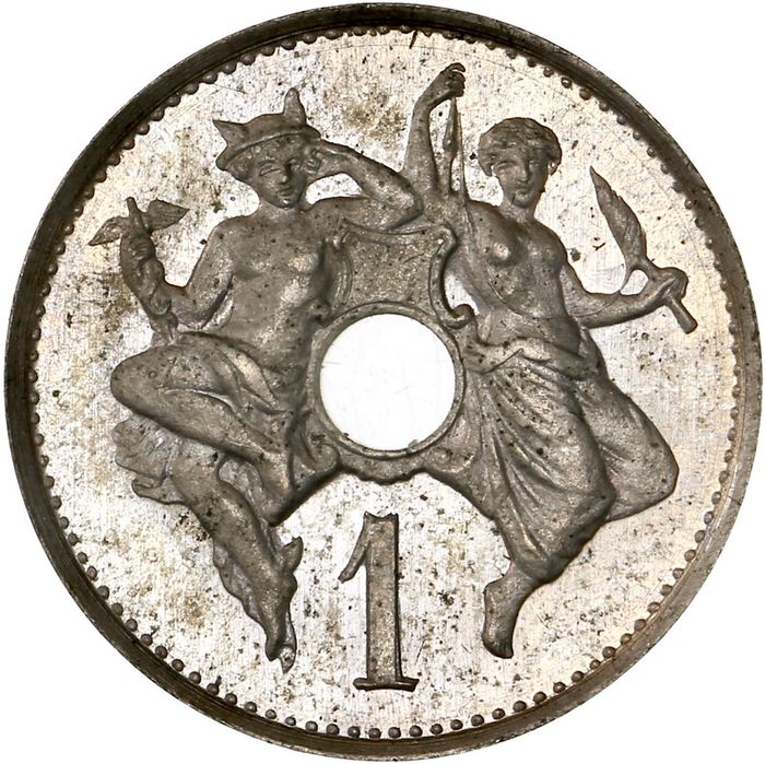 France. IIIe République (1870-1940). 1 Centime nd - Essai TM Michelin