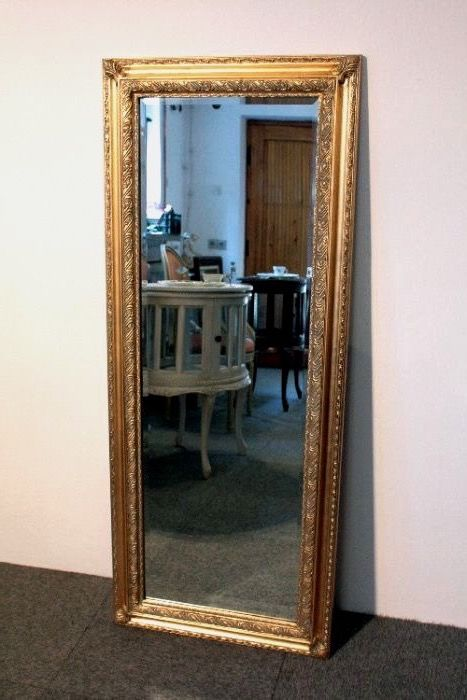 Wall mirror - Large wooden frame - Baroque - Gilt, Wood