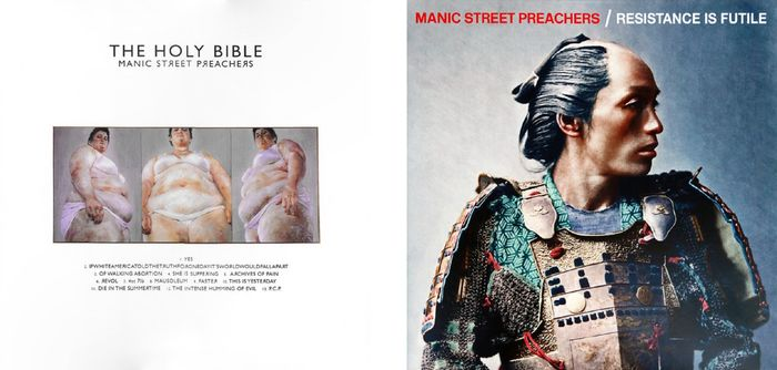 "Manic Street Preachers - ""The Holy Bible""  &  ""Resistance Is Futile"" - Multiple titles - 1 x LP  /  1 x LP in Foldout Sleeve Including CD - 2015/2018"