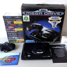 Sega Megadrive I - Special Edition SONIC the Hedgehog + 12 games and 4 posters - Konsole mit Spielen - In Originalverpackung