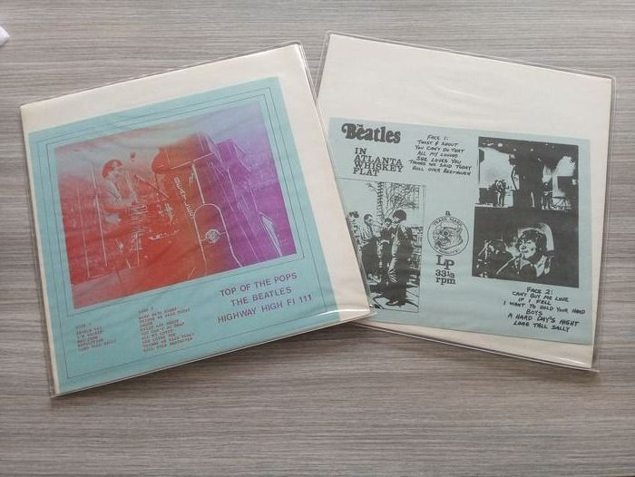Beatles - In Atlanta Whiskey Flat & Top of the Pops (rare - unofficial) - Multiple titles - LP Album - 1977/1979