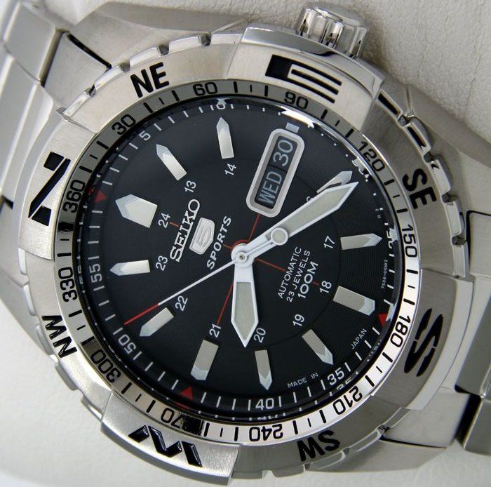 """Seiko - Automatic 23 Jewels 100M """"Black Dial""""- Made in Japan - """"NO RESERVE PRICE"""" - Men - 2018"""