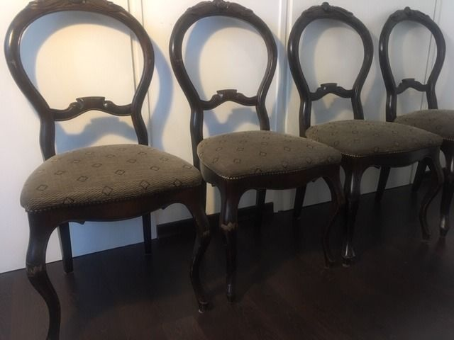 Dining chair (4) - Biedermeier - Stained wood - Mid 19th century
