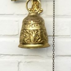Monastery bell - abbey bell - Gilded bronze