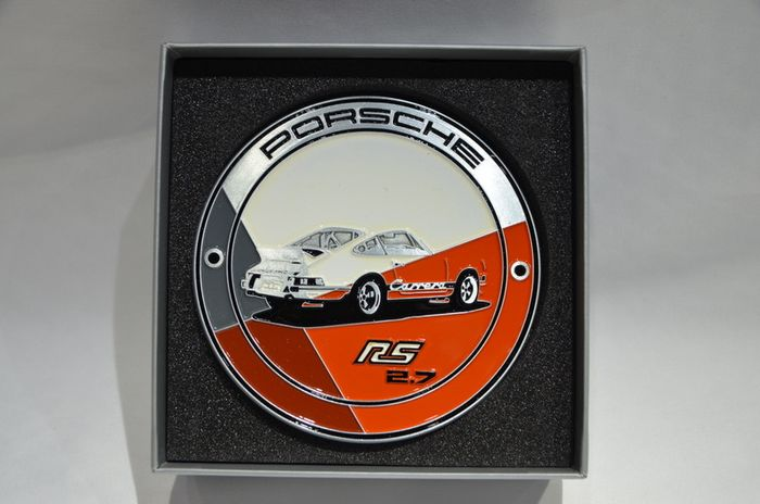 Decorative object - Porsche 911 2.7 RS 1973 orange Grill Badge Plakette Kühlergrill WAP Limitiert - Porsche - After 2000
