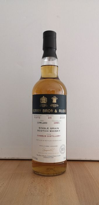 Cambus 1991 26 years old Cask 61972 - Berry Bros & Rudd - b. 2018 - 70cl