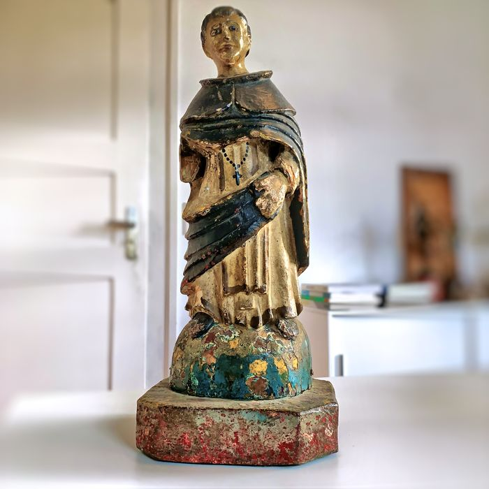 Sculpture, Possibly Saint Anthony - Wood & polychrome painting - Second half 18th century