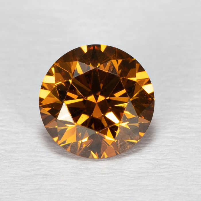 Diamond - 0.54 ct - Brilliant - Natural Fancy Deep Yellow Orange - SI1