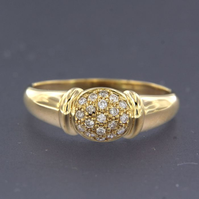 18 kt. Yellow gold - Ring - 0.20 ct Diamond
