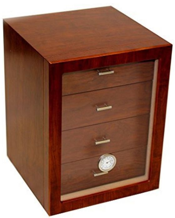 ANGELO - Humidor cabinet for 100 cigars brown