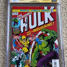 Incredible Hulk #181 Facsimile Edition - CGC Graded 9.6 Signed by Roy Thomas - Firmado por Roy Thomas