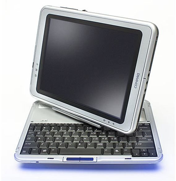 HP TC1100 Vintage convertible Laptop/tablet - Intel 1GHz CPU, 256Mt RAM, 40Gb HDD, Windows XP Tablet Edition - Kosketusnäytön ja laturin kanssa