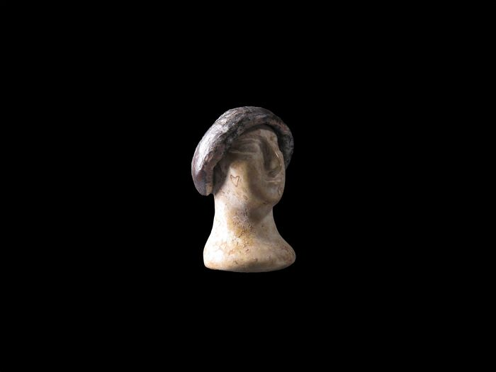 Bactrian Stone Head of an idol