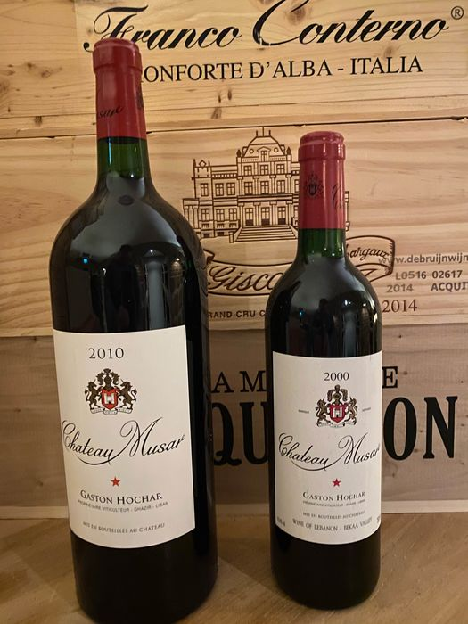 Lote mixto - 2010 Chateau Musar (1 Magnum) - 2000 Chateau Musar (1)  - bekaa valley - 2 Botella (0,75 L)