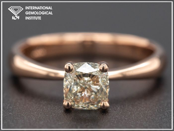 14 kt. Pink gold, 2.97g - Ring - 1.01 ct Diamond