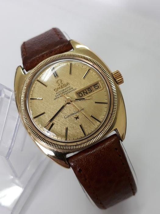 Omega - Constellation Automatic COSC Linens Dial - CD 168.029 - Herren - 1960-1969