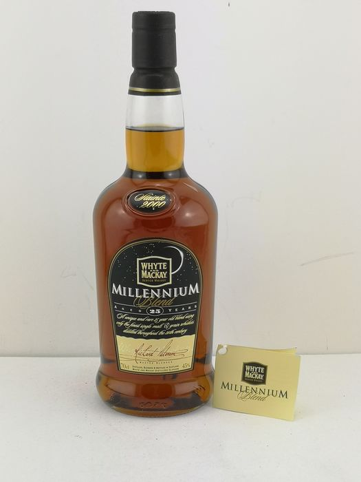 Whyte & Mackay 25 years old Millennium Blend - Original bottling - b. 1999 - 70 cl