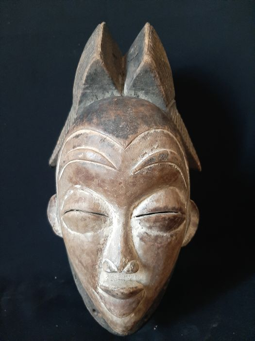 Mask (1) - Wood - Gabon