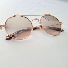 Givenchy - Round Aviator Gold Special Temples Marble - New - Made in Italy - 2020 Zonnebril