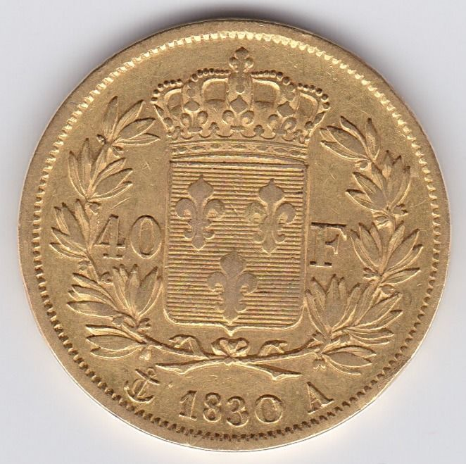 40 Francs 1830 A - Charles X  - Or