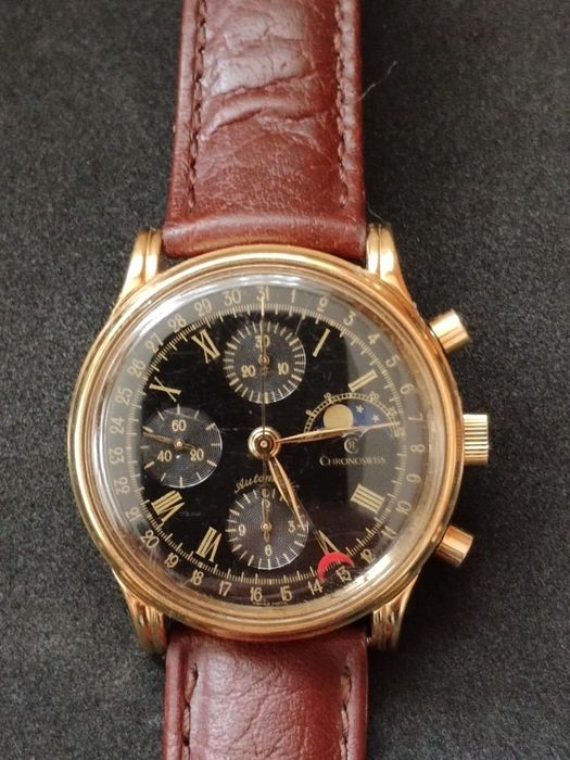 "Chronoswiss - Lunar Moonphase Chronograph ""NO RESERVE PRICE"" - 77990 - Herren - 1990-1999"