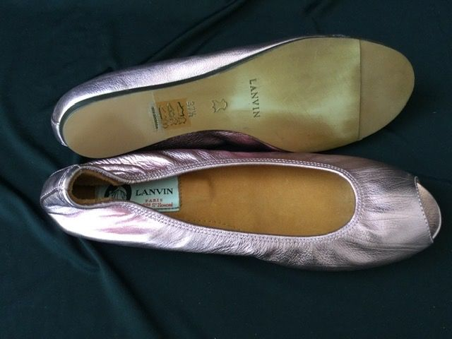 LANVIN PARIS Neuf - Bout ouvert luxe French Ballerina's - Maat: FR 37.5