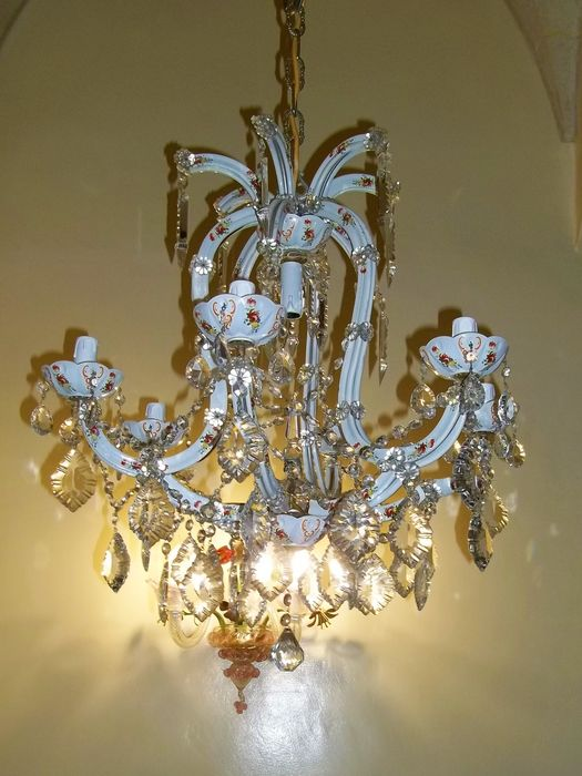 Chandelier - Glass (stained glass) - Late 20th century