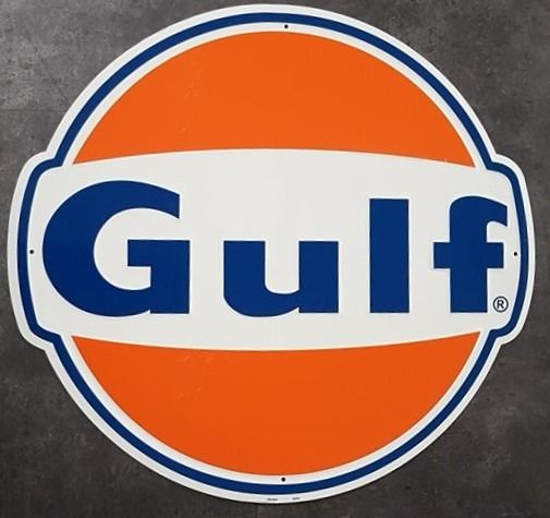 Dekoratives Objekt - Gulf USA gasoline garage reclame decoratie adverstising sign - Gulf - 1990-2000