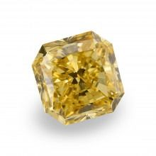 1 pcs Diamant - 3.13 ct - Radiant - fancy deep brownish yellow - VS1