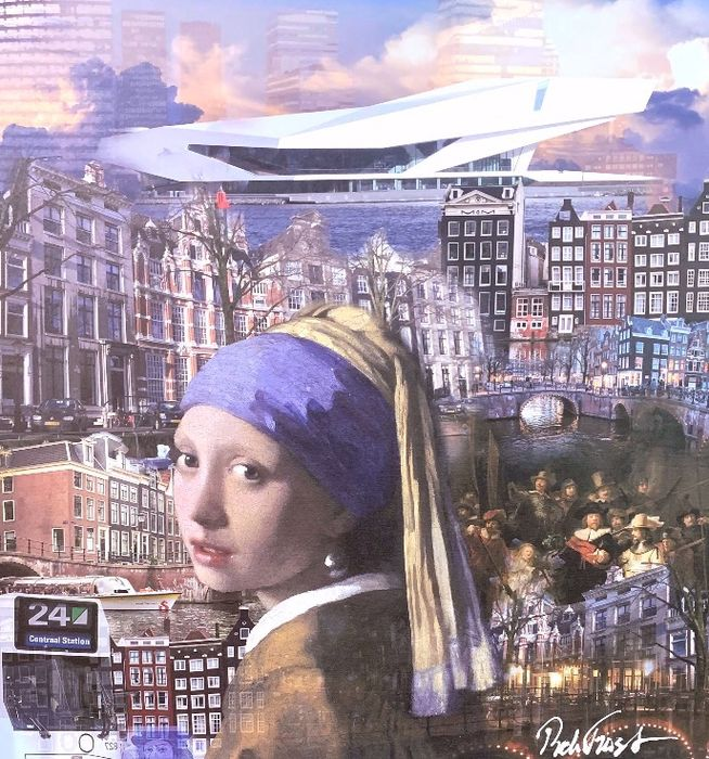 Rick Triest - Limited printed canvas - 16/25 - Amsterdam & vermeer college