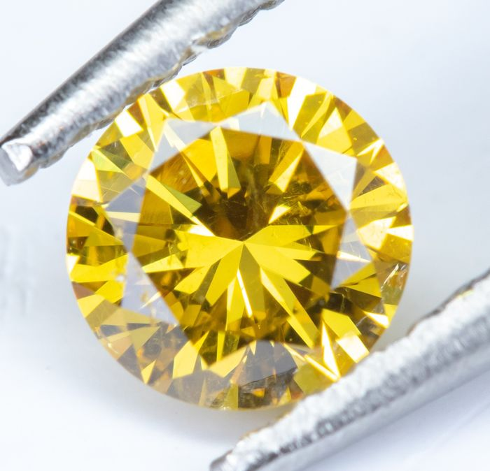 Diamond - 0.29 ct - Natural Fancy Deep Orangy Yellow - SI2  *NO RESERVE*