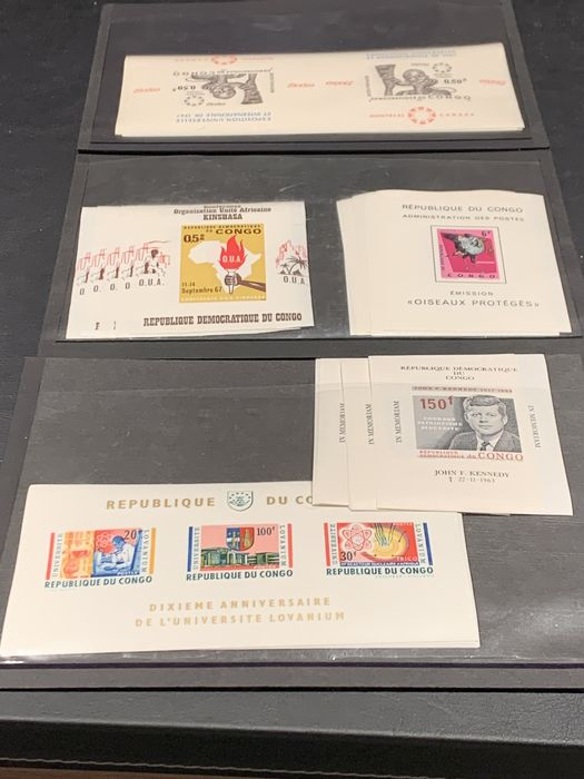 Congo-Kinshasa 1964/1967 - DR Congo lot with blocks and luxury sheetlets - Ten each - OBP / COB