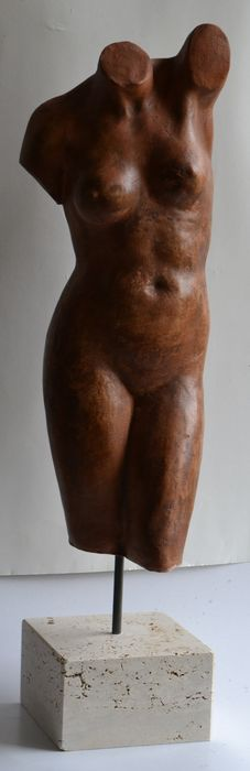 Stefano Todini - Sculpture, Female torso - Ceramic - Late 20th century