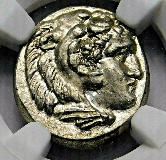 Greece (ancient) - Drachm Alexander the Great (336-323 BC) Lifetime Issue, Struck circa 324/3 BC. - Silver