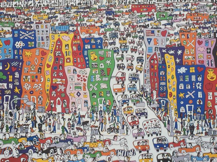 James Rizzi (after) - IT'S SO HARD TO BE A SAINT WHEN YOU LIVE IN THE CITY - original silkscreen 1983 - 1983 - 1980-tallet