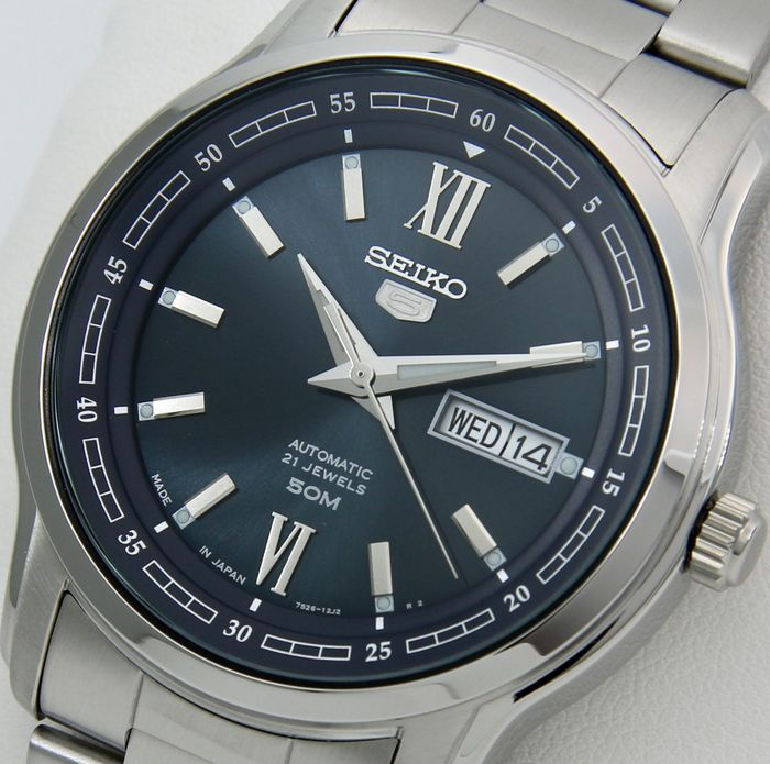 "Seiko - Automatic Made in Japan ""Blue Dial"" - ""NO RESERVE PRICE"" - Men - 2019"