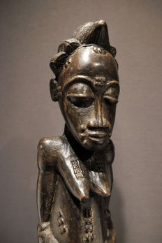 Figure - Wood - biolobian - Baule - West Africa