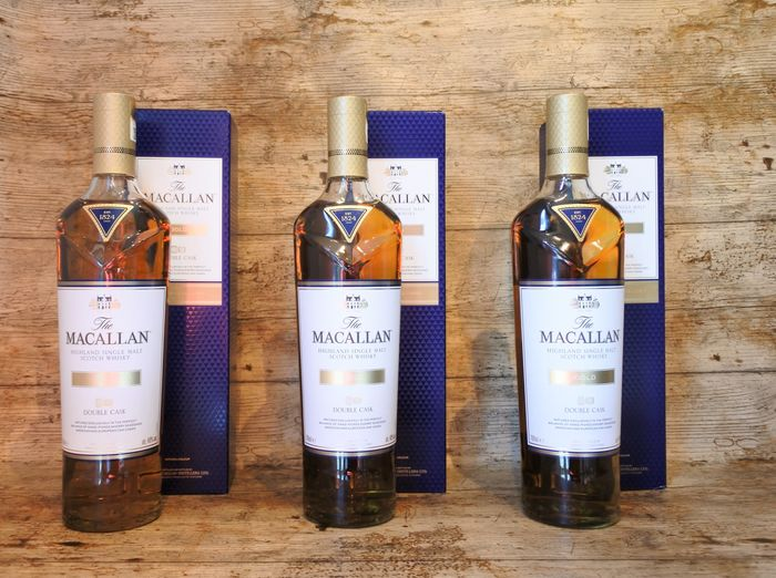 Macallan Double Cask Gold in original boxes - 700ml - 3 bottles