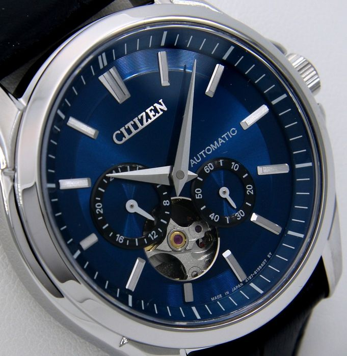 "Citizen - Luxury Automatic Japan Sapphire Mechanical Blue Dial ""Open Heart"" - NO RESERVE PRICE - - Men - 2019"