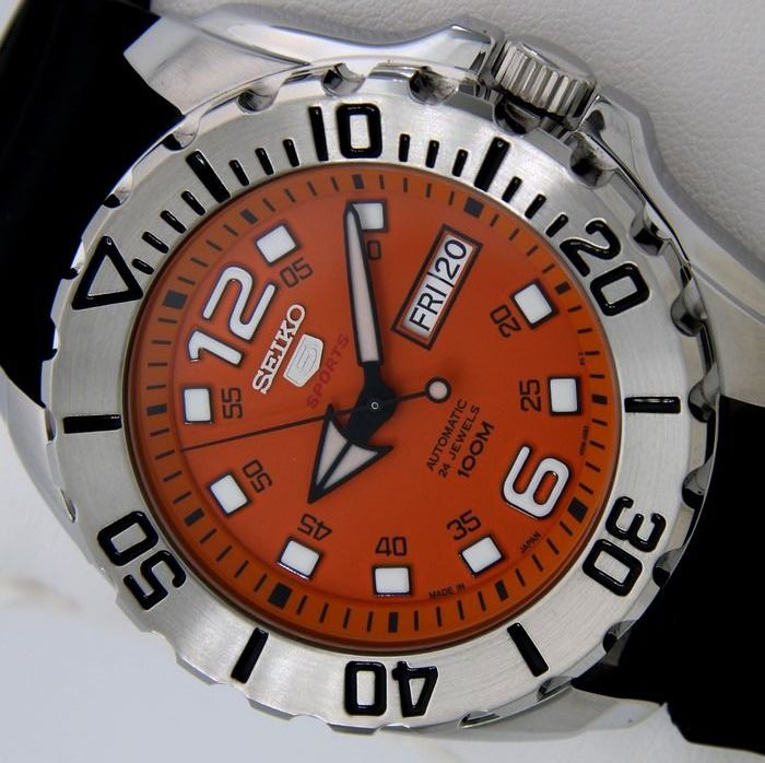 "Seiko - Automatic 24 Jewels ""Orange Dial"" - Made in Japan - - Men - 2019"