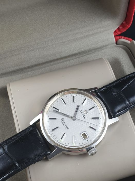 Omega - Seamaster-Rare-Tapestry Dial-Automatic-Date-1012 Cal. - 166.0163 - Men - 1970-1979