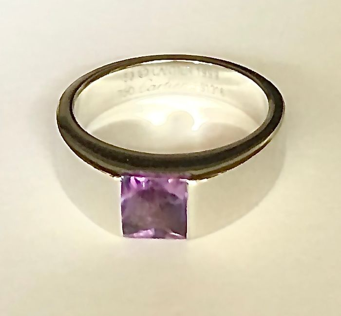 Cartier - 18 kt. White gold - Ring - 1.00 ct Amethyst