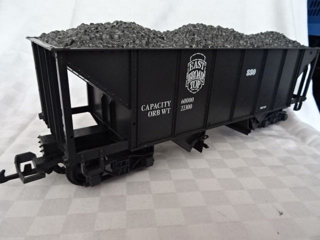 LGB G - 4076 - Freight carriage - U.S. coal truck Burlington self-discharger loaded with coal