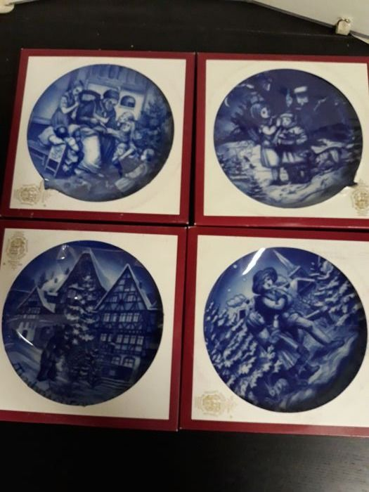 Hans Müller - Bareuther-Waldsassen - Christmas / Christmas Annual dishes (4) - Porcelain