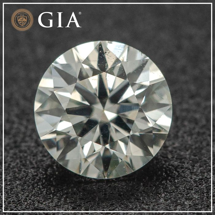 Diamant - 0.40 ct - Brillant - faint green - SI1, No Reserve Price