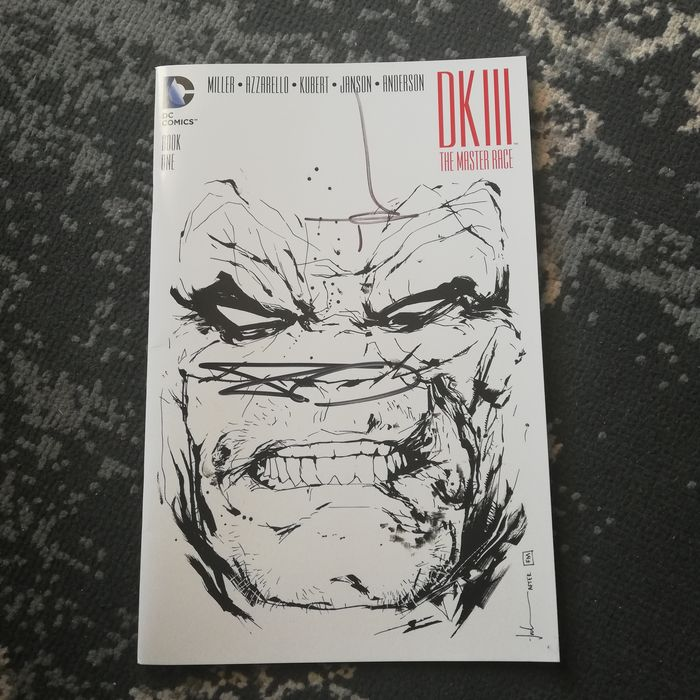 Batman Dark Knight III : The Master Race #1 - Signed by Jock and Miller - Agrafé - EO