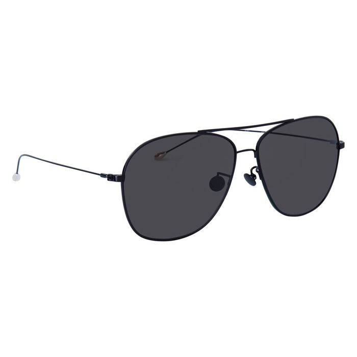 """Ann Demeulemeester - Aviator Black 925 Silver with Grey Lenses - AD48C1SUN """"NO RESERVE PRICE"""" Sunglasses"""