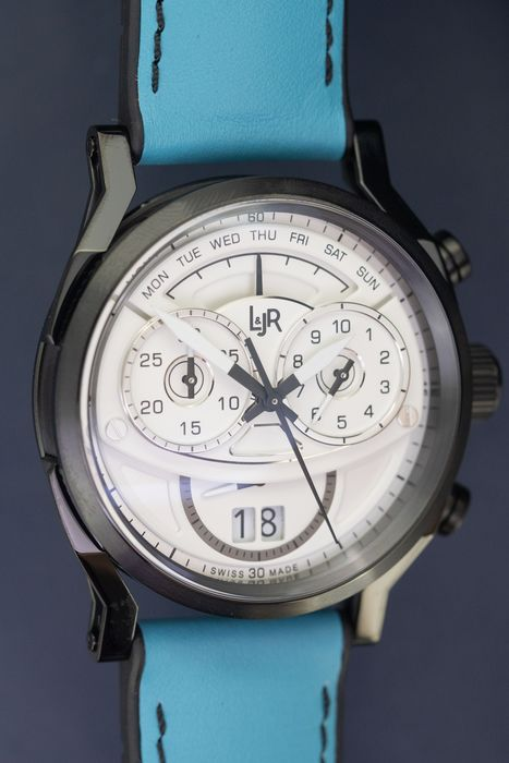 "L&Jr - Chronograph Day and Date White Dial with Blue Strap + Extra Grey Strap - S1501-S9 ""NO RESERVE PRICE"" - Herren - 2011-heute"