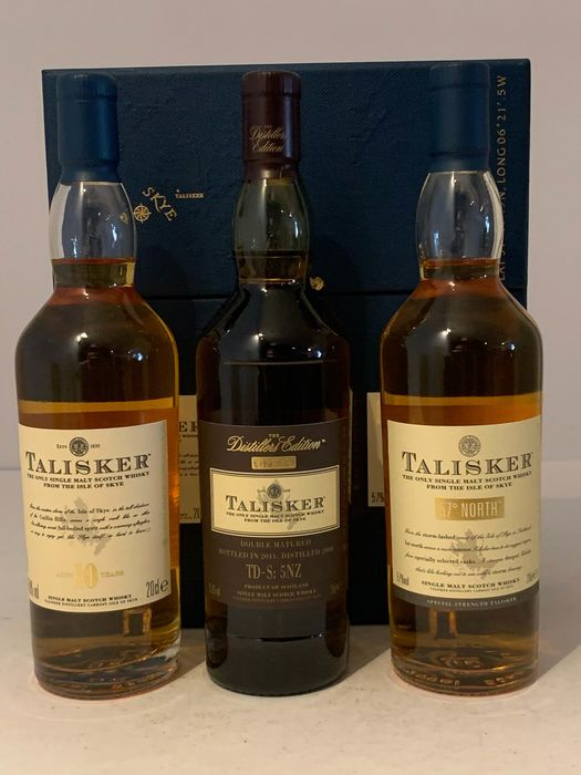Talisker 10 years - 18 years - 2000 Distiller's Edition (Classic Malts Selection) - 20 cl - 3 botellas